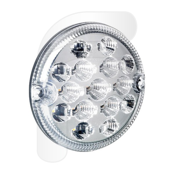 PILOTO REDONDO LED 3 FUNCIONES 12/24V 95MM FA210116RB