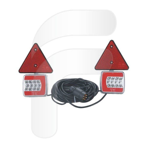 KIT LUCES REMOLQUE MAGNÉTICO LED GLOWING TRIÁNGULO FA328001